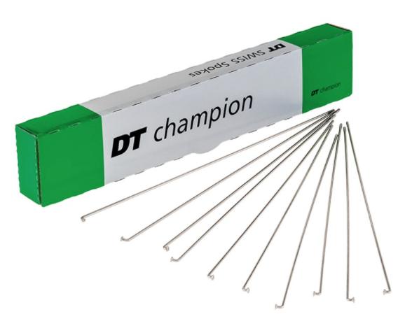 4 x Dt-Swiss Champion 164 mm 2,0//2,34 mm Straight Pull//J-Bend Black//Silver